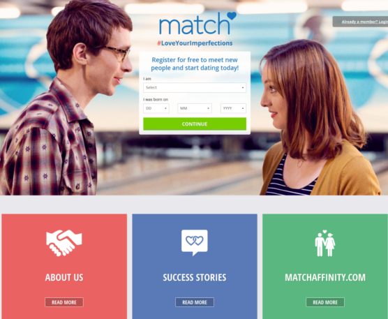 Online dating for healthcare professionals