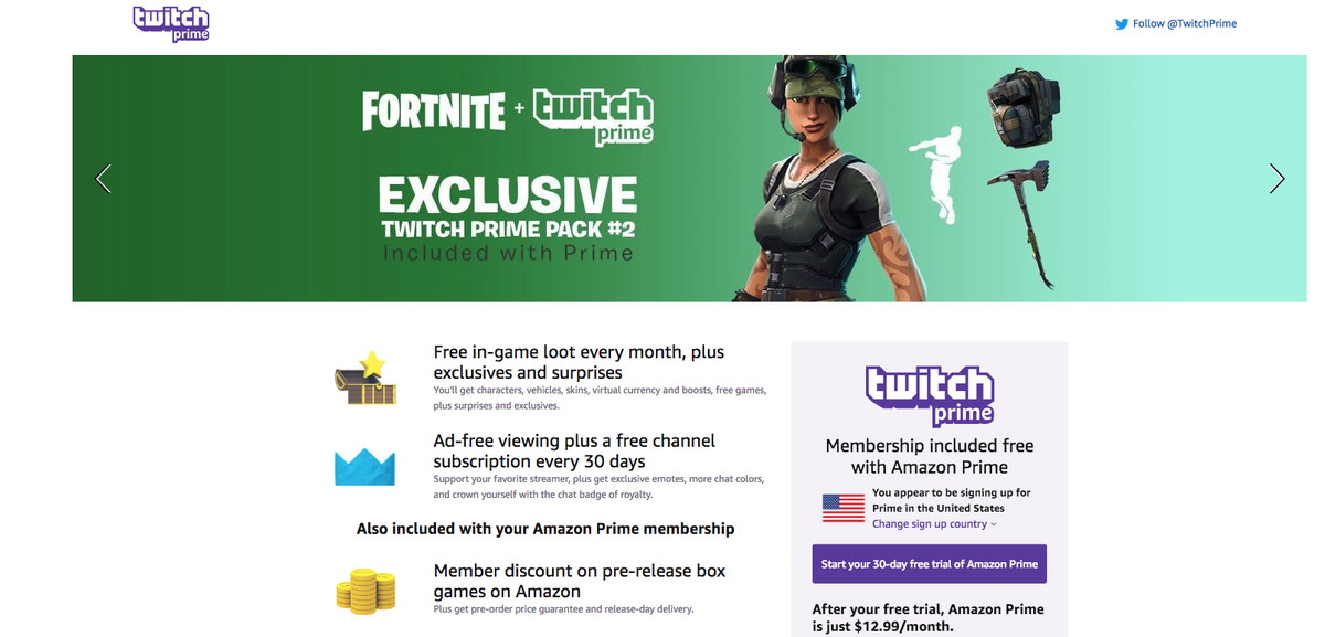 Twitch Prime (Via Amazon)