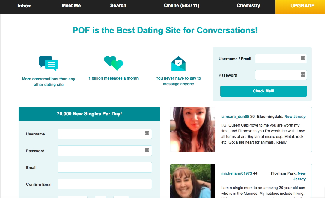 Pay dating site with online check