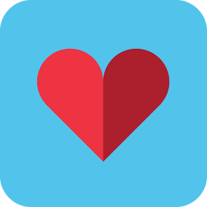 Online dating apps with a blue symbol