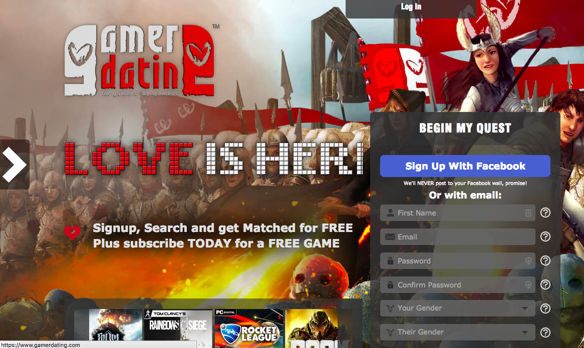 Legit dating site for gamers