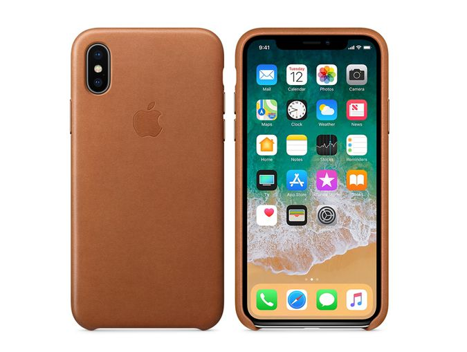 promo code 377e4 fa7ec Apple iPhone X Leather Case