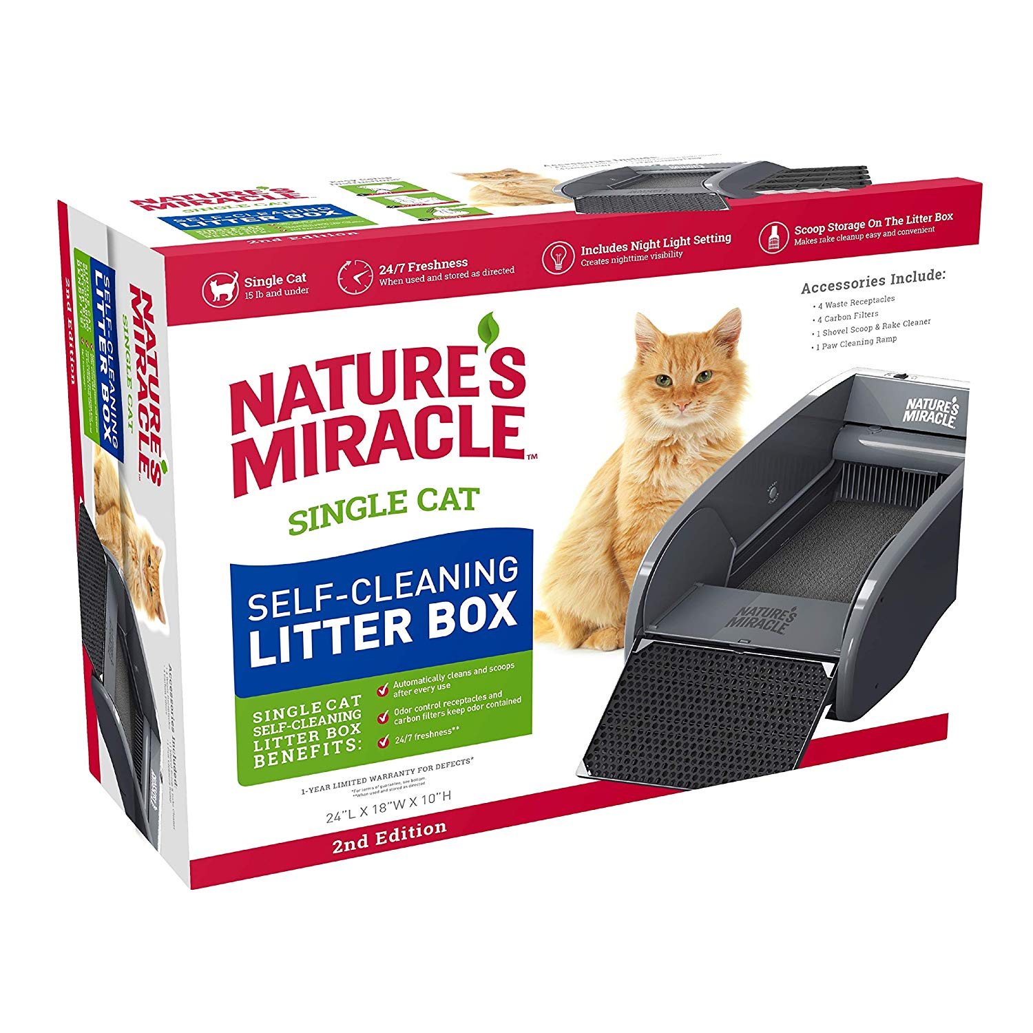 Nature's Miracle Single-Cat Self-Cleaning Litter Box