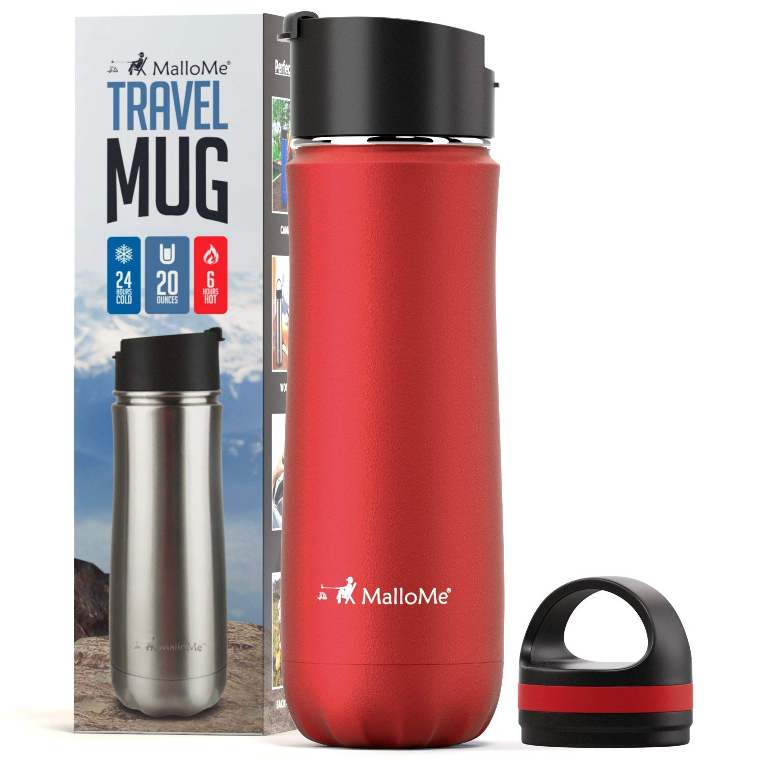 MalloMe Stainless Steel Coffee Travel Mug