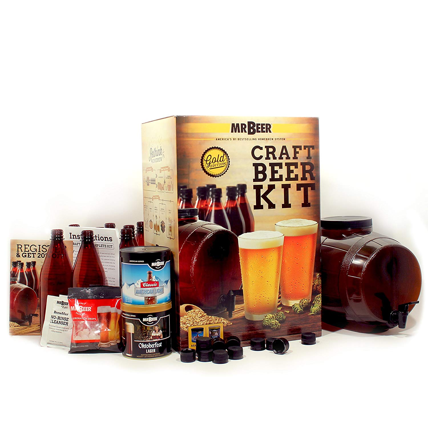 Mr  Beer Premium Gold Edition Craft Beer Kit