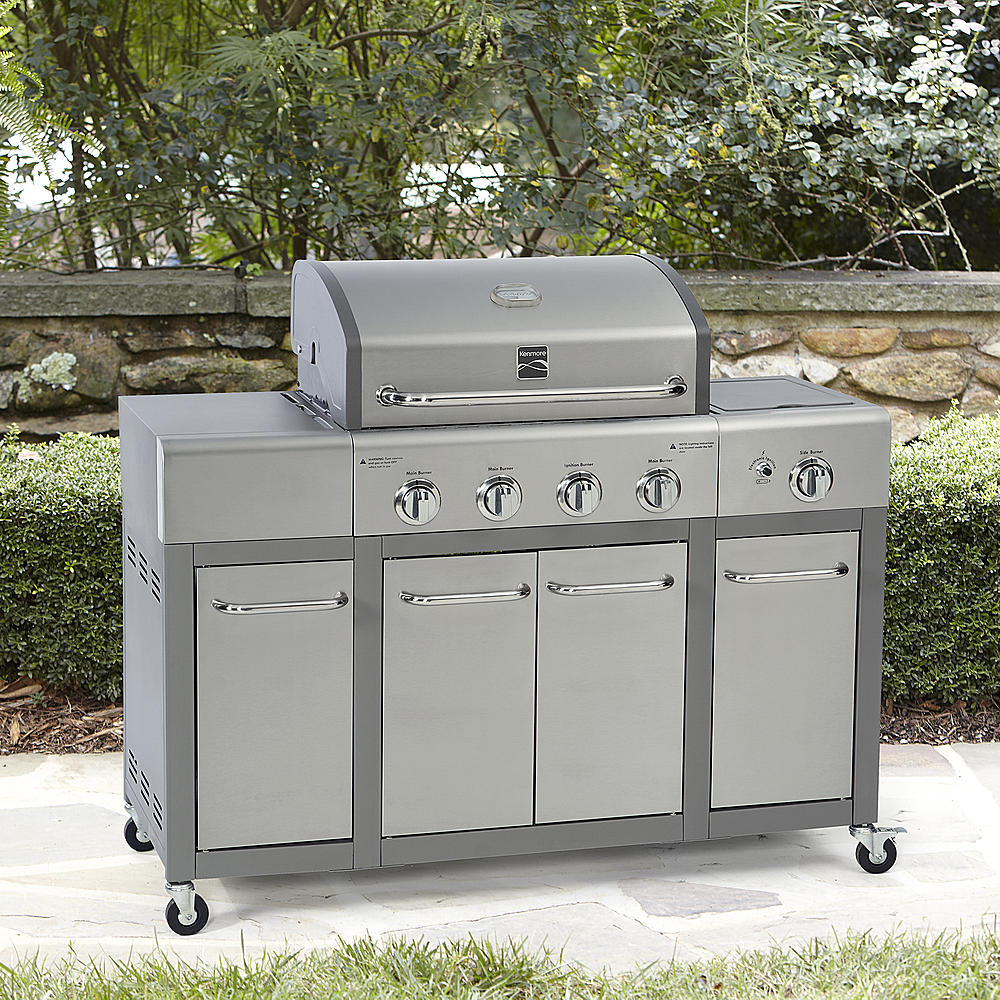 Kenmore 4-Burner Gas Grill with Storage