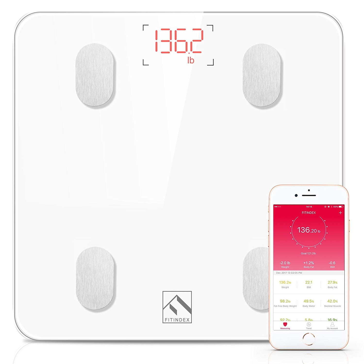 FITINDEX smart wireless digital scale