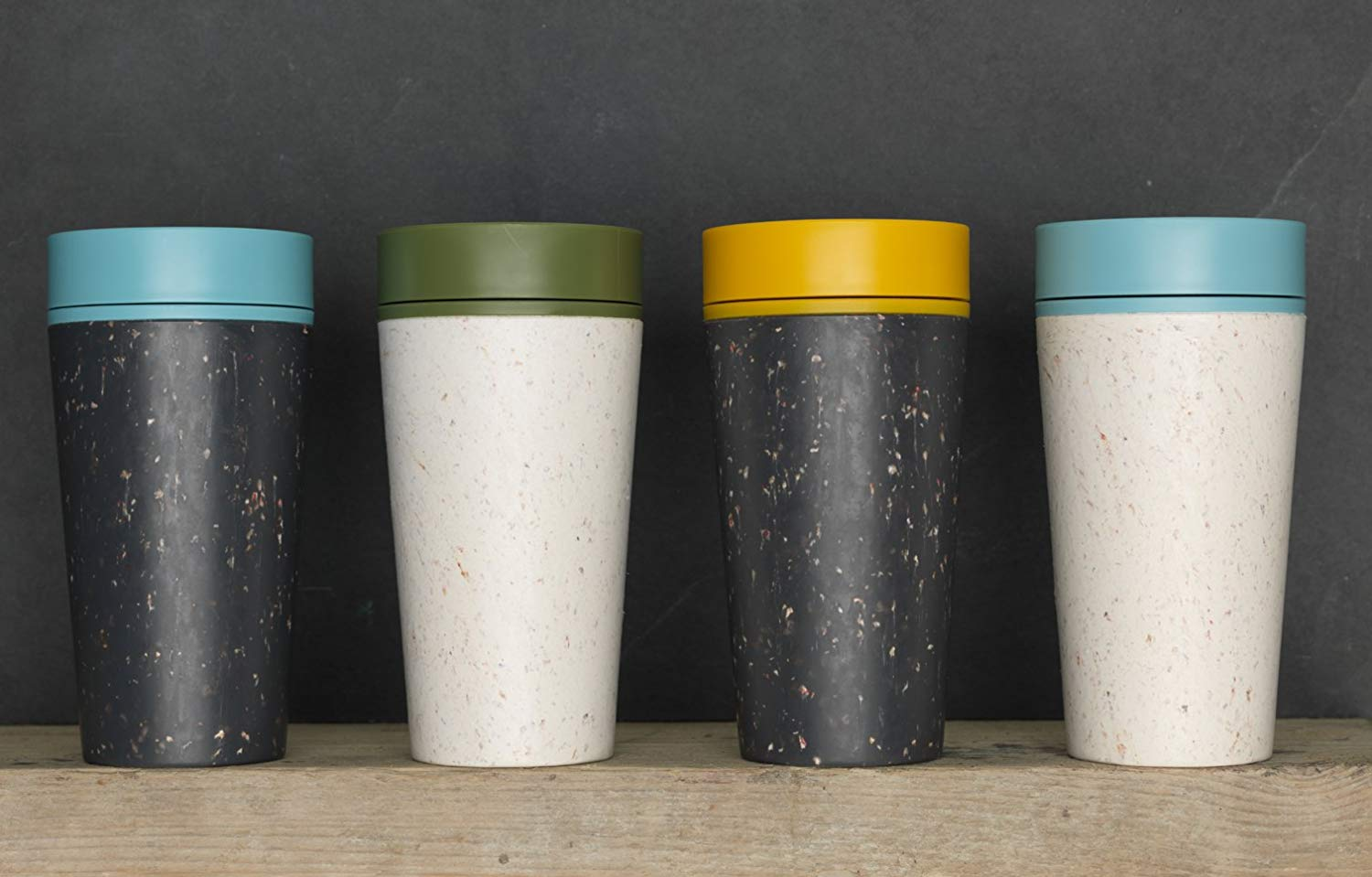 Coffee on the go cups. Different sizes of take away paper coffee..