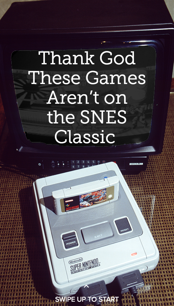 Thank God These Worst SNES Games Aren't on the SNES Classic
