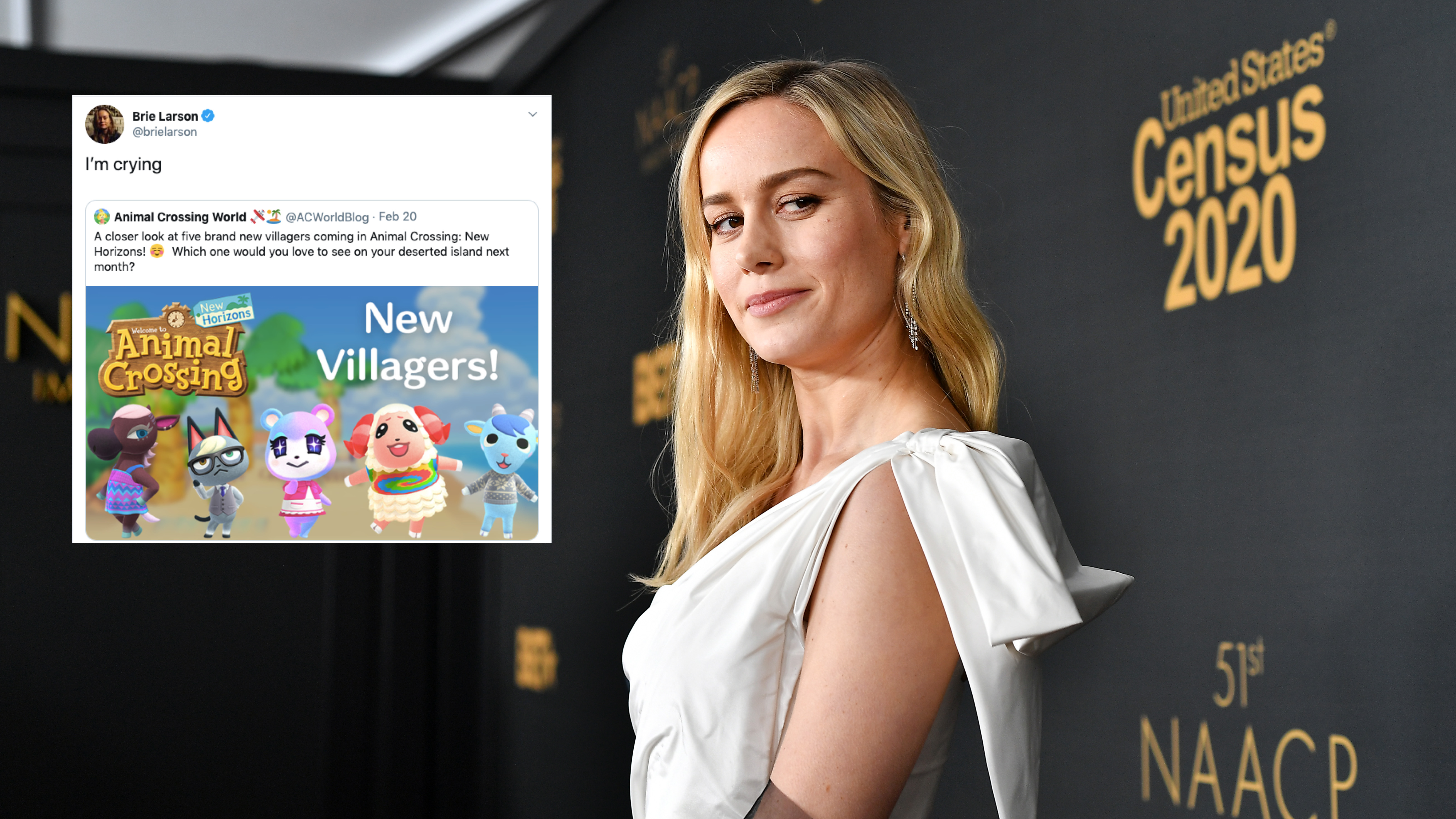 Who Did Brie Larson Go As For Halloween 2020 Brie Larson cannot stop tweeting about 'Animal Crossing: New Horizons'