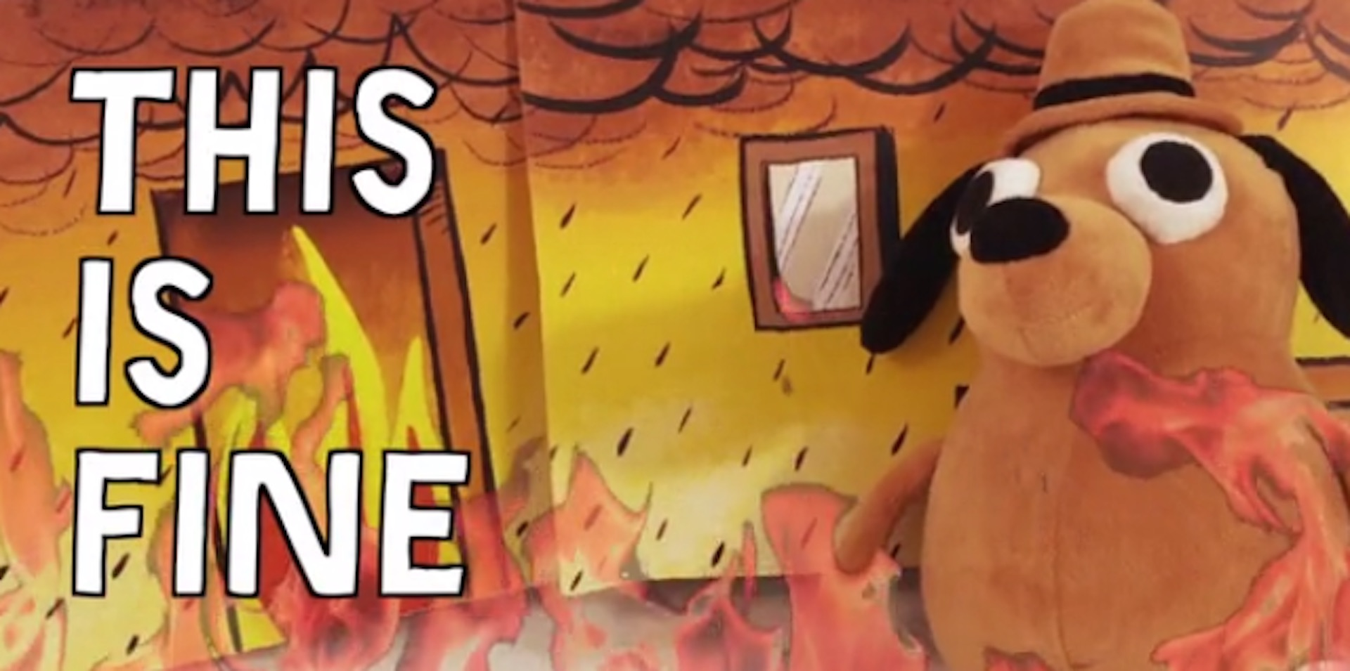 This Is Fine Dog Stuffed Animal, This Is Fine Plush Dog By Kc Green Kickstarter