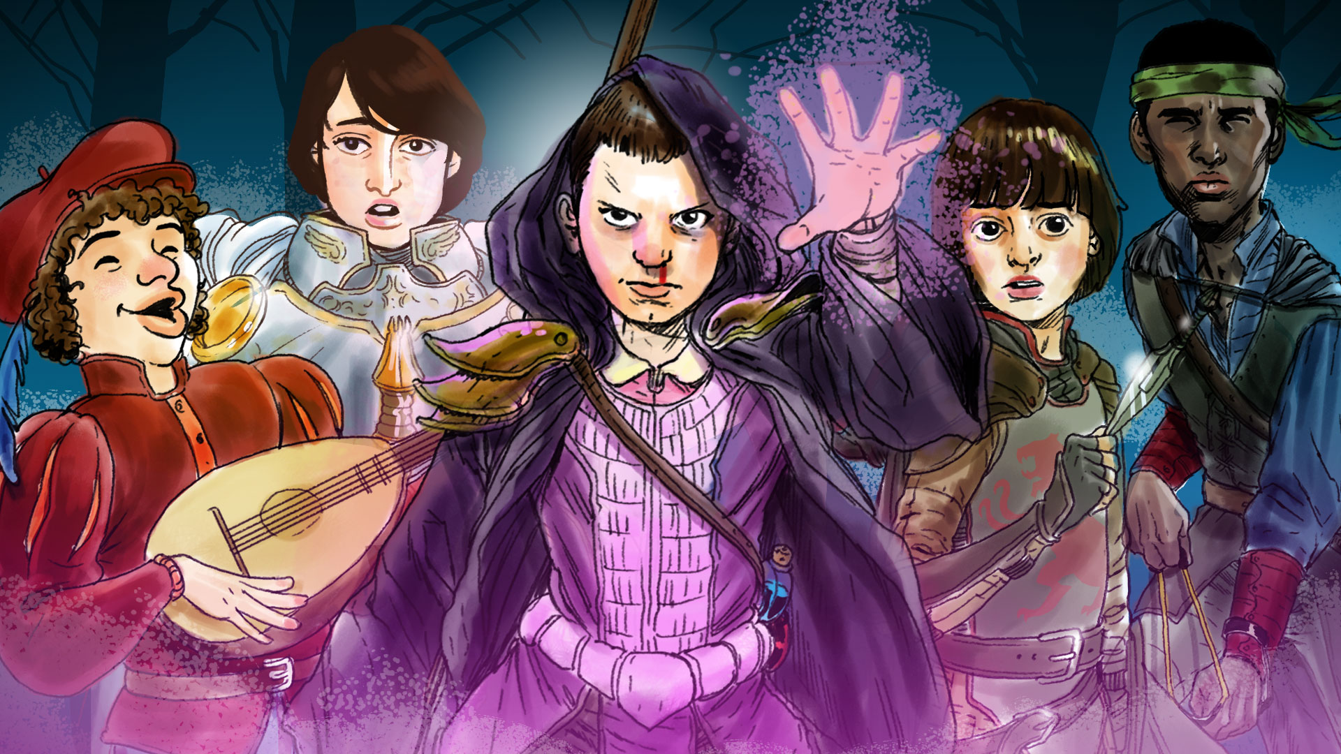The Stranger Things Kids Reimagined As Dungeons Dragons Characters