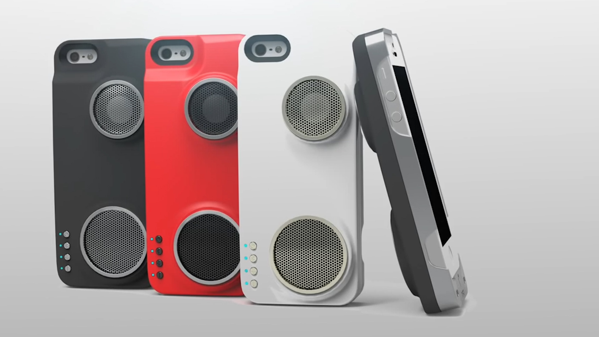 Transform your smartphone into a tiny boombox with this speaker phone case