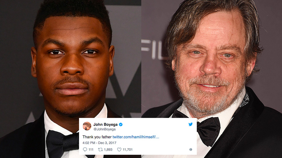 Mark Hamill And John Boyega Are Trolling Star Wars Fans On Twitter Again Последние твиты от mark hamill news✨ (@hamillnews). mark hamill and john boyega are