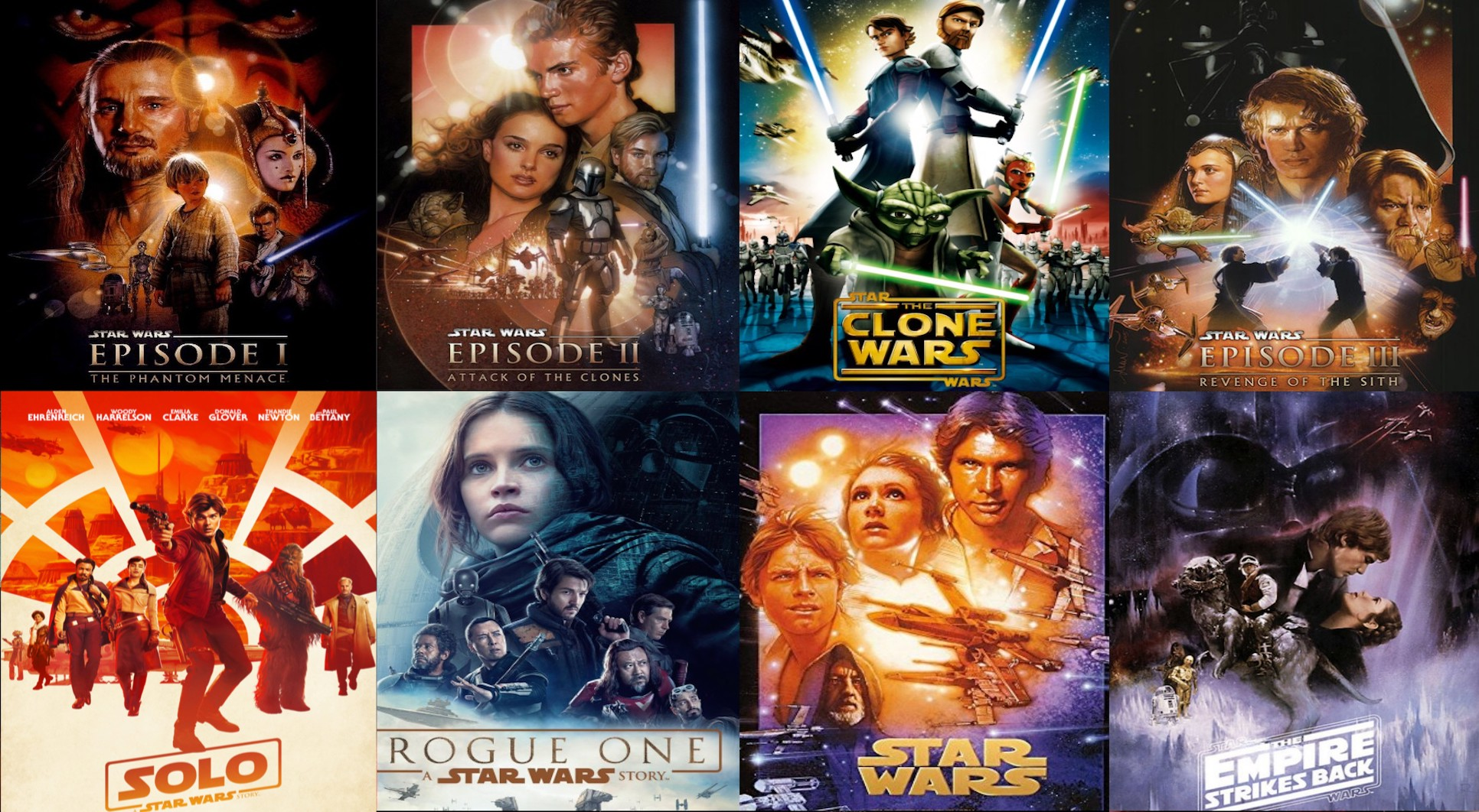 All 12 Star Wars Movies Ranked Including The Rise Of Skywalker