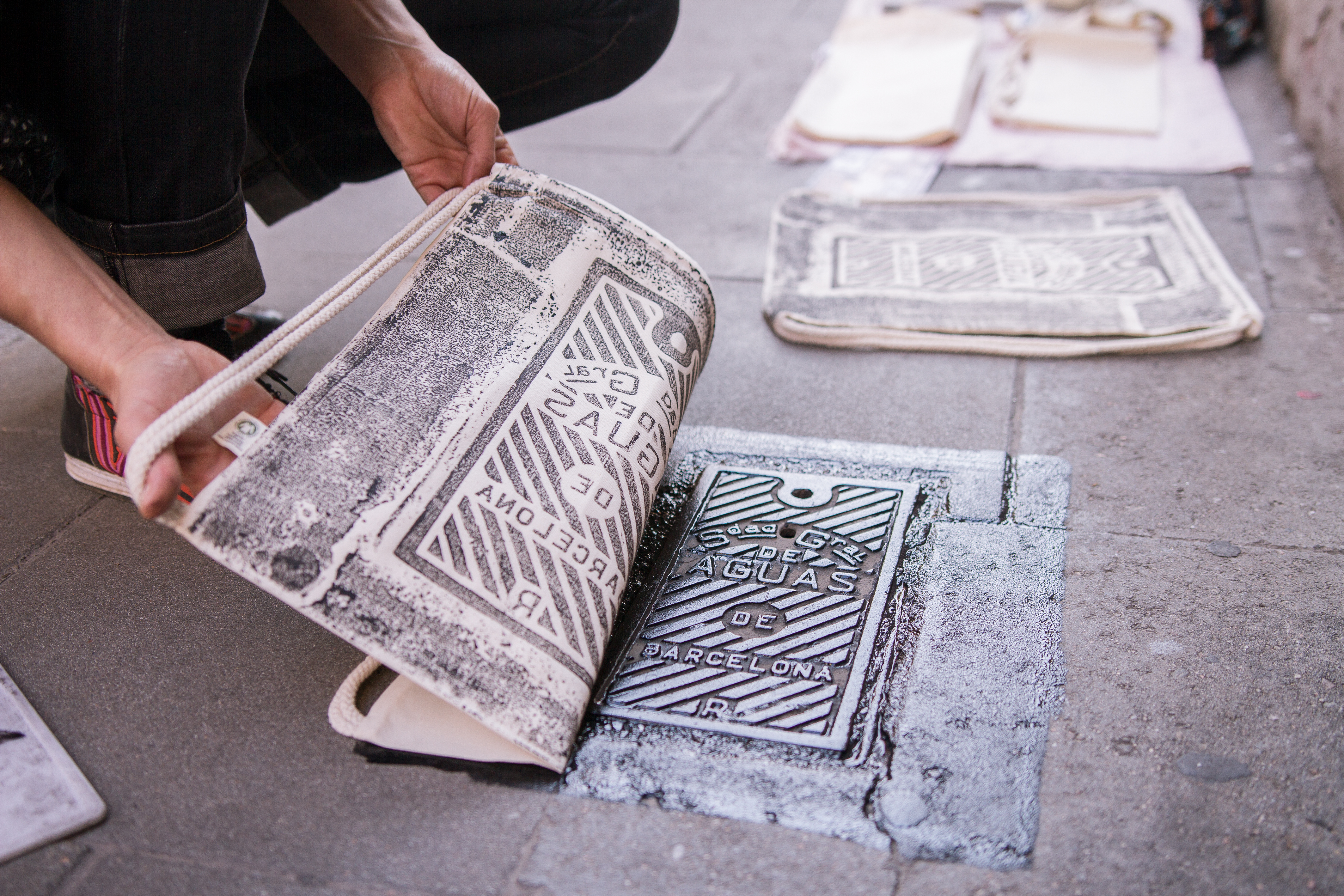 baed5d18 Art collective turns street covers into unique patterns for clothes