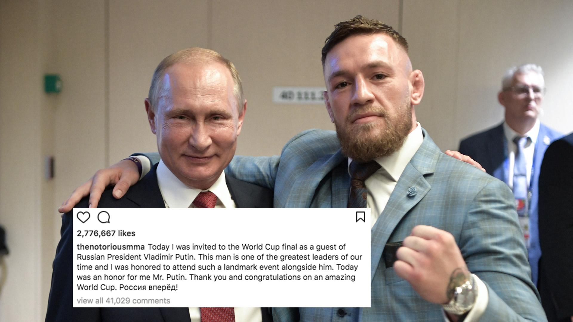 Conor Mcgregor Gets Slammed For Instagram Post About Putin