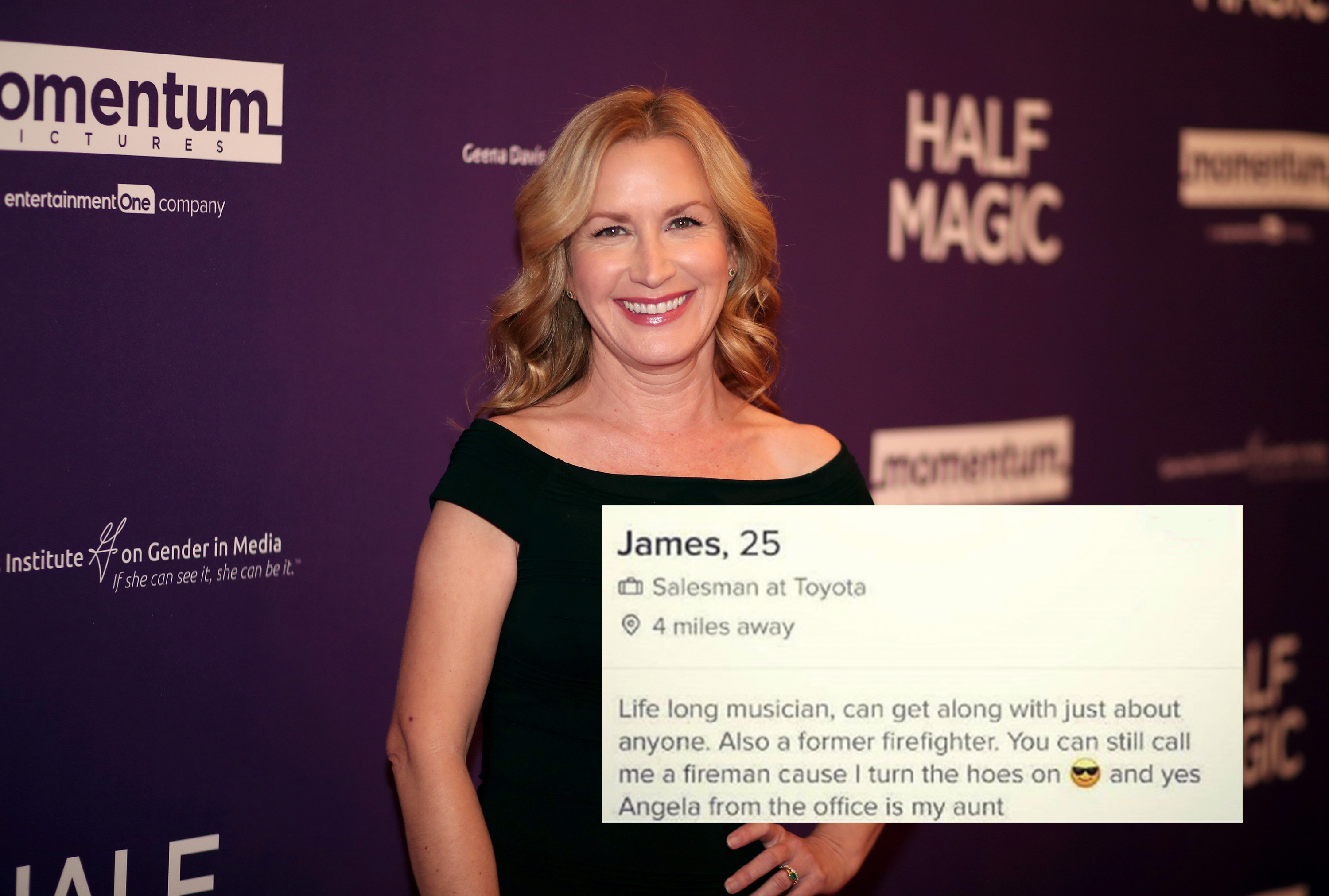 Angela From The Office Called Out Her Nephew For His Tinder Photo