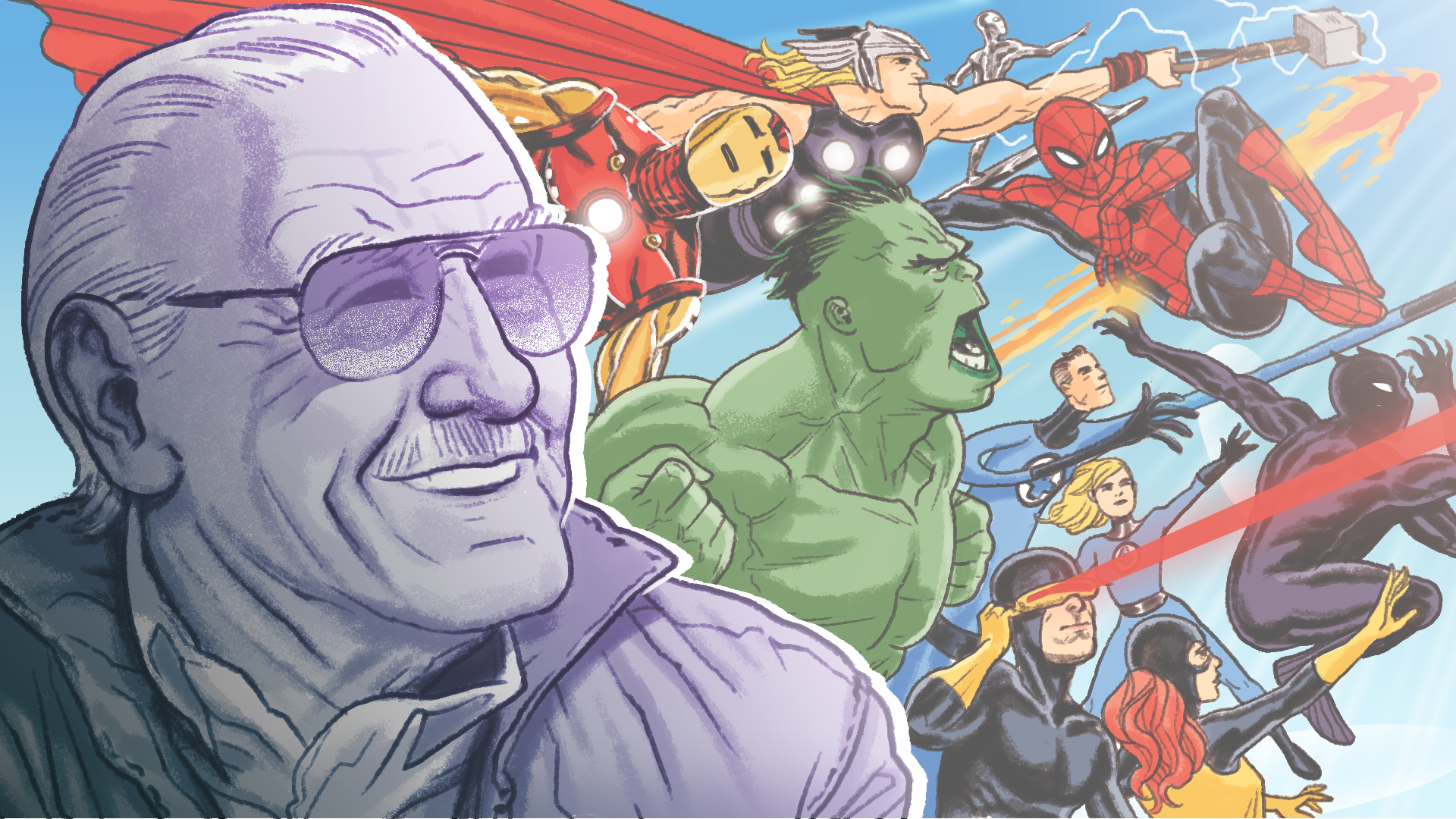 Artists honor late Stan Lee with stunning Marvel inspired portraits