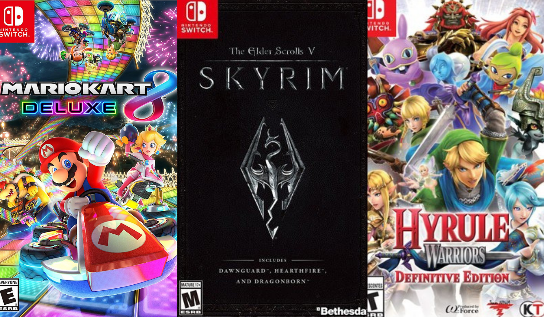 Nintendo Switch Games On Sale Save On Mario Kart Hyrule Warriors Skyrim Nba 2k19
